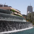Stock Video: Fountain in the city of Dubai