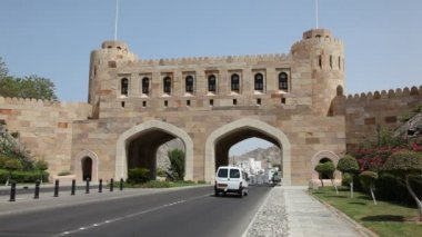 Old city gate of Muscat, Oman — Stock Video