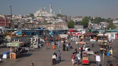 Torget i eminönü, istanbul, turkiet — Stockvideo