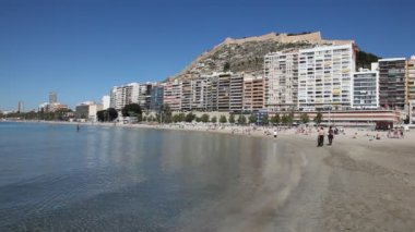 Beach in Alicante, Spain — Stock Video