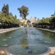 Gardens and fountains in Cordoba, Spain — Vídeo de stock
