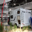DUSSELDORF - SEPTEMBER 4: Hobby Siesta Sport camper van at the Caravan Salon Exhibition 2013 on September 04, 2013 in Dusseldorf, Germany. — Stock Photo