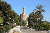 Torre del Oro - Gold Tower in Sevilla, Andalusia, Spain — Stock Photo