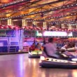 Bumper cars in an amusement park — Stock Video
