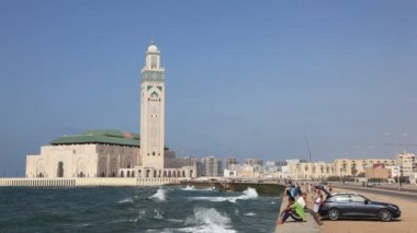 Mosque of Hassan II in Casablanca, Morocco — Stock Video