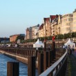 Rhine Promenade in Dusseldorf, Germany — Stock Photo