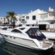 Luxury yachts in Puerto Banus, the marina of Marbella, Spain — Stock Photo