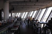 Inside of the Rhine Tower (Rheinturm) in Dusseldorf, Germany — Stock Photo