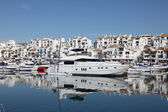 Luxury yachts in Puerto Banus, the marina of Marbella, Spain — Stock Photo