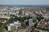 Aerial view of downtown Dusseldorf, Germany — Stock Photo