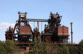 Rusty industrial ruin in Duisburg, Germany — Stock Photo