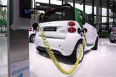 International Motor Show in Frankfurt, Germany. Smart Electric Drive car at the 65th IAA in Frankfurt, Germany on September 17, 2013 — Stock Photo