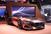 International Motor Show in Frankfurt, Germany. Peugeot Onyx Concept car at the 65th IAA in Frankfurt, Germany on September 17, 2013 — Stock Photo