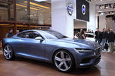 International Motor Show in Frankfurt, Germany. Volvo presenting the Concept Coupe at the 65th IAA in Frankfurt, Germany on September 17, 2013 — Stock Photo