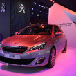 Stock Photo: International Motor Show in Frankfurt, Germany. new Peugeot 308 at 65th IAin Frankfurt, Germany on September 17, 2013