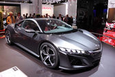 International Motor Show in Frankfurt, Germany. Honda NSX Concept Car at the 65th IAA in Frankfurt, Germany on September 17, 2013 — Stock Photo