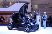 International Motor Show in Frankfurt, Germany. Renault Twizy Electric Car at the 65th IAA in Frankfurt, Germany on September 17, 2013 — Stock Photo