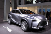 International Motor Show in Frankfurt, Germany. Lexus LF-NX Concept SUV at the 65th IAA in Frankfurt, Germany on September 17, 2013 — Stock Photo