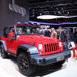 International Motor Show in Frankfurt, Germany. Jeep presenting the Rubicon at the 65th IAA in Frankfurt, Germany on September 17, 2013 — Stock Photo
