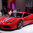 Stock Photo: International Motor Show in Frankfurt, Germany. Ferrari presenting 458 Scuderiat 65th IAin Frankfurt, Germany on September 17, 2013