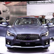 Stock Photo: International Motor Show in Frankfurt, Germany. Infiniti Q50 at 65th IAin Frankfurt, Germany on September 17, 2013