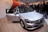 International Motor Show in Frankfurt, Germany. Mercedes Benz E-Class at the 65th IAA in Frankfurt, Germany on September 17, 2013 — Stock Photo