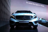 International Motor Show in Frankfurt, Germany. Mercedes Benz GLA at the 65th IAA in Frankfurt, Germany on September 17, 2013 — Stock Photo