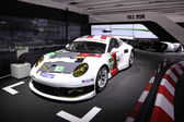 International Motor Show in Frankfurt, Germany. Porsche 911 RSR racing car at the 65th IAA in Frankfurt, Germany on September 17, 2013 — Stock Photo