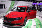 International Motor Show in Frankfurt, Germany. Skoda Rapid Sport at the 65th IAA in Frankfurt, Germany on September 17, 2013 — Stock Photo