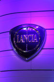 International Motor Show in Frankfurt, Germany. Lancia Logo at the 65th IAA in Frankfurt, Germany on September 17, 2013 — Stock Photo