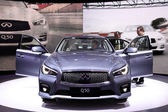International Motor Show in Frankfurt, Germany. Infiniti Q50 at the 65th IAA in Frankfurt, Germany on September 17, 2013 — Stock Photo