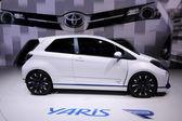 International Motor Show in Frankfurt, Germany. Toyota Yaris Hybrid at the 65th IAA in Frankfurt, Germany on September 17, 2013 — Stock Photo
