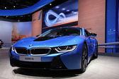 International Motor Show in Frankfurt, Germany. New BMW i8 Electric Car at the 65th IAA in Frankfurt, Germany on September 17, 2013 — Stock Photo
