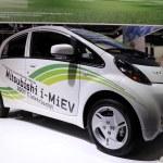 mostra de motor internacional em frankfurt, Alemanha. Mitsubishi i-miev o carro elétrico no 65º iaa em frankfurt, Alemanha em 17 de setembro de 2013 — Foto Stock