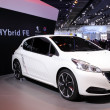 Stock Photo: International Motor Show in Frankfurt, Germany. Peugeot 208 Hybrid FE at 65th IAin Frankfurt, Germany on September 17, 2013