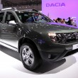 International Motor Show in Frankfurt, Germany. Dacia Duster at the 65th IAA in Frankfurt, Germany on September 17, 2013 — Stock Photo