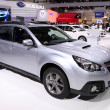 Stock Photo: International Motor Show in Frankfurt, Germany. Subaru Outback SUV at 65th IAin Frankfurt, Germany on September 17, 2013