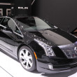 Stock Photo: International Motor Show in Frankfurt, Germany. Cadillac ELR at 65th IAin Frankfurt, Germany on September 17, 2013
