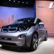 International Motor Show in Frankfurt, Germany. New BMW i3 Electric Car at the 65th IAA in Frankfurt, Germany on September 17, 2013  — Stock Photo