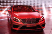 International Motor Show in Frankfurt, Germany. Mercedes Benz presenting new S Class 63 AMG at the 65th IAA in Frankfurt, Germany, on September 17, 2013 — Stock Photo