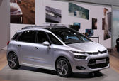 International Motor Show in Frankfurt, Germany. Citroen presenting the new C4 Picasso van at the 65th IAA in Frankfurt, Germany on September 17, 2013 — Stock Photo
