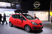 International Motor Show in Frankfurt, Germany. Opel Meriva at the 65th IAA in Frankfurt, Germany on September 17, 2013 — Stock Photo