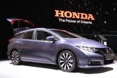 International Motor Show in Frankfurt, Germany. Honda Civic Tourer at the 65th IAA in Frankfurt, Germany on September 17, 2013 — Stock Photo