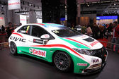 International Motor Show in Frankfurt, Germany. Honda Civic Racing Car at the 65th IAA in Frankfurt, Germany on September 17, 2013 — Stock Photo