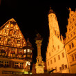 Market place in Rothenburg ob der Tauber at night, BavariGermany — Stock Photo #31989257