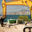 Construction site in Benidorm — Stock Photo