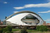 El palau de les arts reina sofia na cidade das artes e das ciências em valência, espanha — Foto Stock