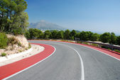 Mountain road in the Spanish Sierra Nevada — Stock Photo