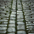 Traditional cobblestone in germany — Stock Photo
