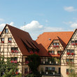 Houses in bavarian town Rothenburg ob der Tauber, Germany — Stock Photo